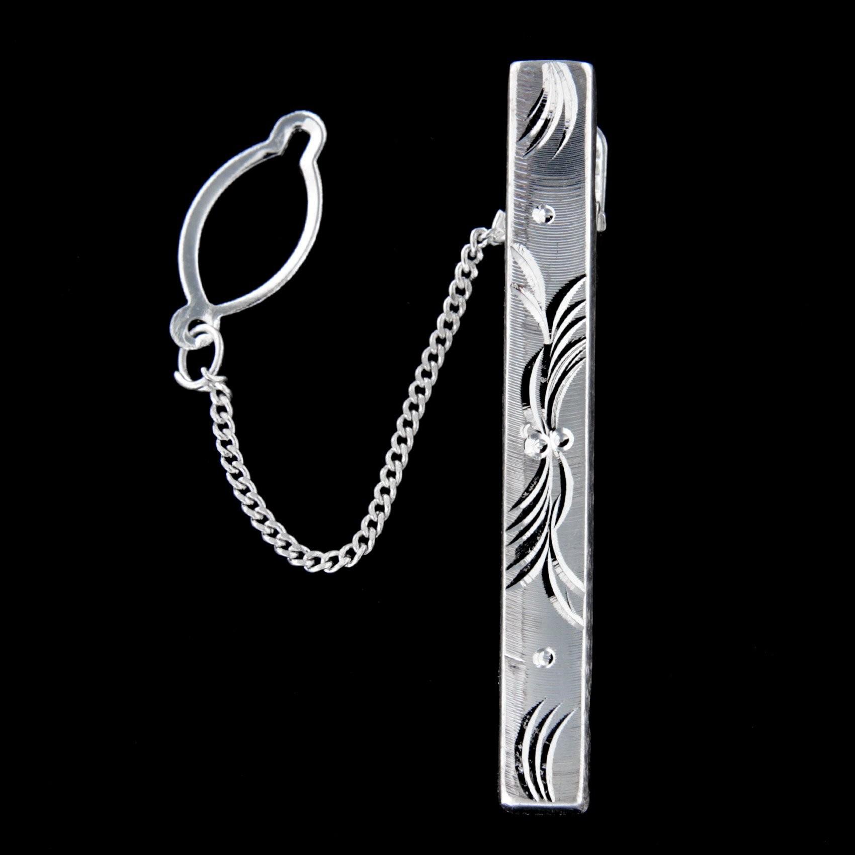 Stříbrná kravatová spona